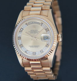 Rolex  Day-Date Yellow Gold Champagne Diamond Dial 18238