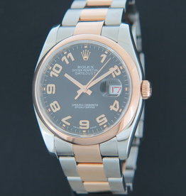 Rolex  Datejust Everose / Steel 116201 Black Concentric Dial