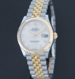 Rolex  Datejust Gold/Steel Silver Diamond Dial 278273 NEW