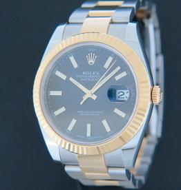 Rolex  Datejust 41 Gold/Steel Black Dial  126333
