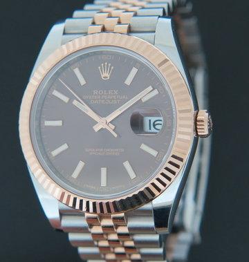 Rolex  Datejust 41 Everosegold/Steel 126331 Choco Dial