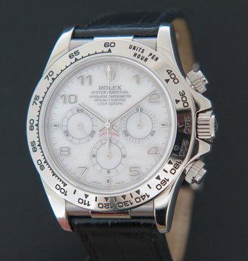 Rolex  Daytona White Gold MOP Dial 16519