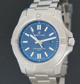 Breitling Chronomat Colt Automatic Blue Dial 44 NEW A17388
