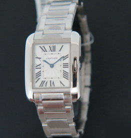 Cartier Anglaise Steel Ladies Silver Dial 3704