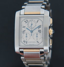 Cartier Tank Francaise Chronoflex Gold/Steel
