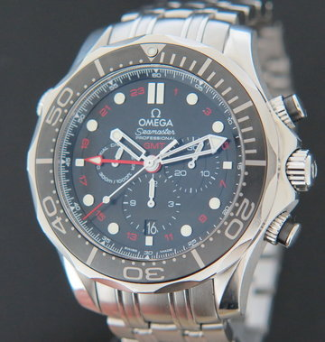 Omega Seamaster GMT Chronograph CoAxial Diver 300m 212.30.44.52.01.001