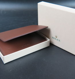 Rolex  Wallet / card holder brown leather