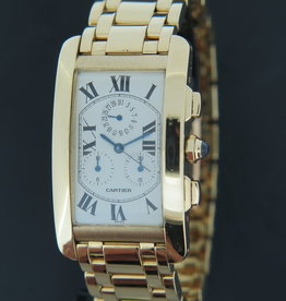 Cartier Tank Americaine Chronoflex Yellow Gold