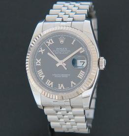 Rolex  Datejust  Black Roman Dial 116234