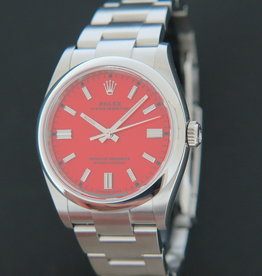 Rolex  Oyster Perpetual 126000 NEW Coral Red Dial