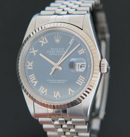 Rolex  Datejust Blue Roman Dial 16234