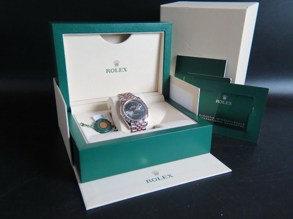 Rolex  Rolex Datejust 41 Everosegold/Steel Slate Dial NEW 126331