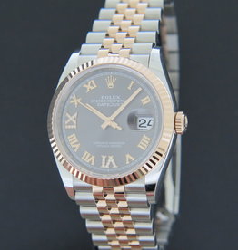 Rolex  Datejust Everose/Steel Slate Diamond Dial NEW 126231