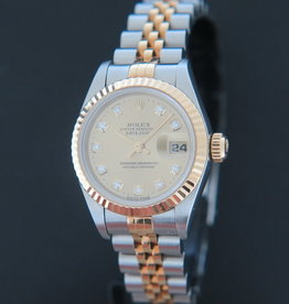 Rolex  Datejust Lady Gold/Steel Champagne Diamond Dial 69173