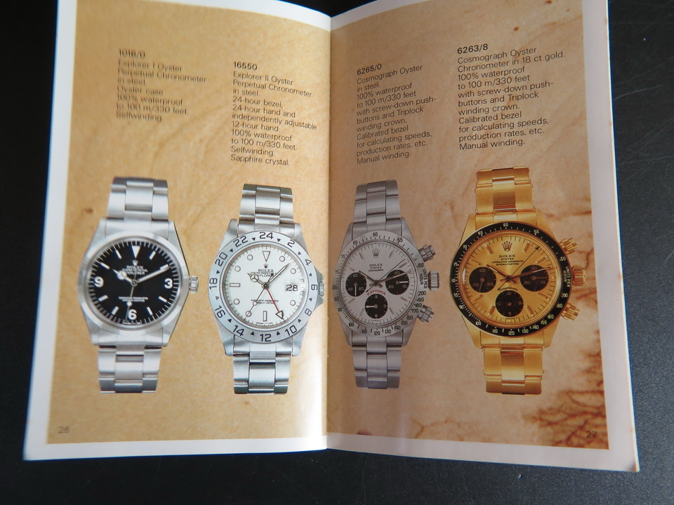 Rolex  Rolex Model Brochure / Booklet with Price List 1984