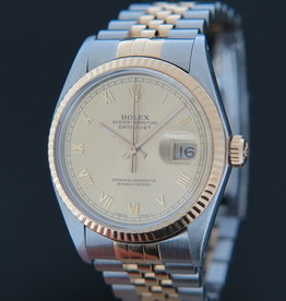 Rolex  Datejust Gold/Steel Champagne Dial 16013