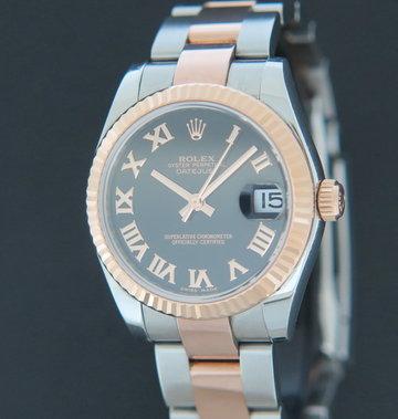 Rolex  Datejust Everosegold/Steel Black Dial 178271