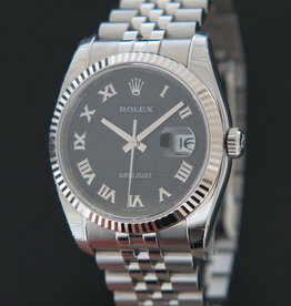 Rolex  Datejust  Black Roman Computer Dial 116234 NOS IN STICKERS