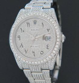 "Rolex  Datejust 41 Full Diamonds ""Iced Out"" 126300"