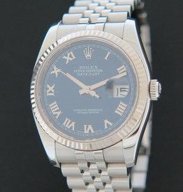 Rolex  Datejust  Blue Roman Dial 116234