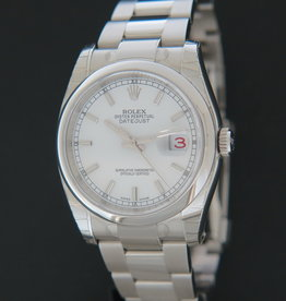 Rolex  Datejust White Dial NEW 116200 FULL STICKERS