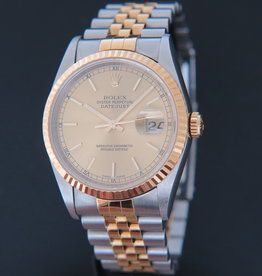 Rolex  Datejust Gold/Steel Champagne Dial 16233