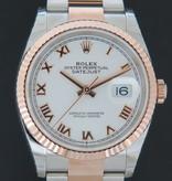 Rolex  Rolex Datejust  Everose/Steel White Roman Dial NEW 126231