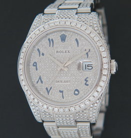 """Rolex  Datejust 41 Full Diamonds """"Iced Out"""" 126300"""