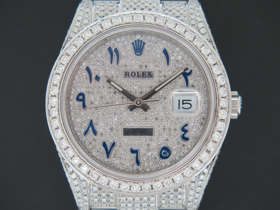 """Rolex  Rolex Datejust 41 Full Diamonds""""Iced Out"""" 126300"""