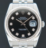 Rolex  Rolex Datejust Black Diamond Dial 116234