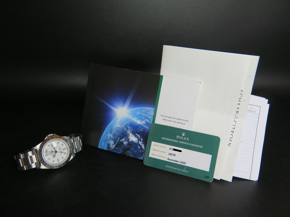Rolex  Rolex Explorer II White Dial 16570