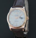 Rolex  Rolex Day-Date Everose Silver Dial 118135