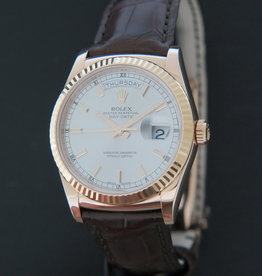 Rolex  Day-Date Everose Silver Dial 118135