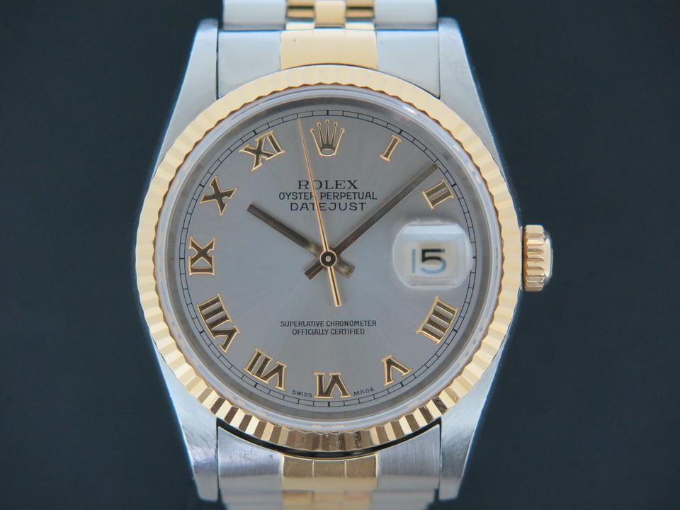 Rolex  Rolex Datejust Gold/Steel 16233 Grey Dial