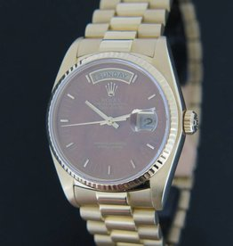 Rolex  Day-Date Yellow Gold Wood Dial 18038