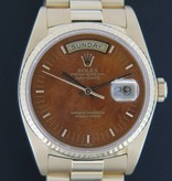 Rolex  Rolex Day-Date Yellow Gold Wood Dial 18038