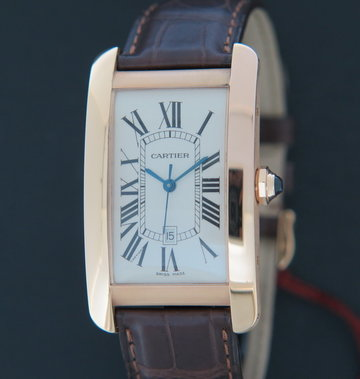 Cartier Tank Americaine Rose Gold Large W2609156 NEW