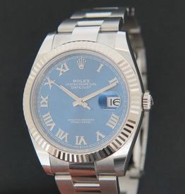 Rolex  Datejust 41 Blue Roman Dial 126334 NEW