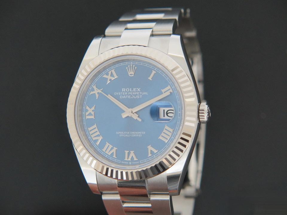 Rolex  Rolex Datejust 41 Blue Roman Dial 126334 NEW