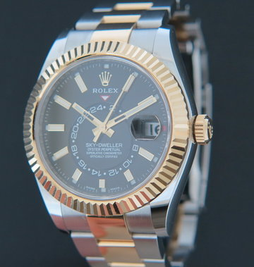Rolex  Sky-Dweller Gold/Steel Black 326933