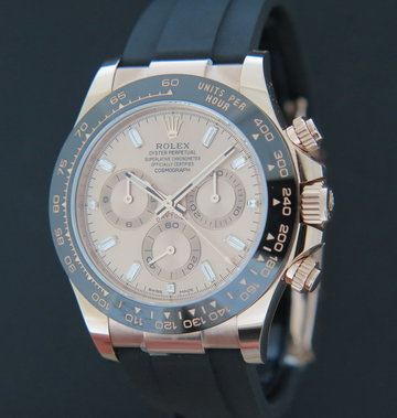 Rolex  Daytona Everose Sundust Diamond Dial NEW 116515LN