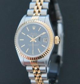 Rolex  Datejust Gold/Steel Black Dial 79173