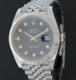 Rolex  Datejust 41 Black Diamond Dial 126334 NEW