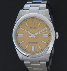 Rolex  Oyster Perpetual 41 Yellow Dial 124300 NEW