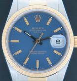 Rolex  Rolex Date Gold/Steel Blue Dial 15223