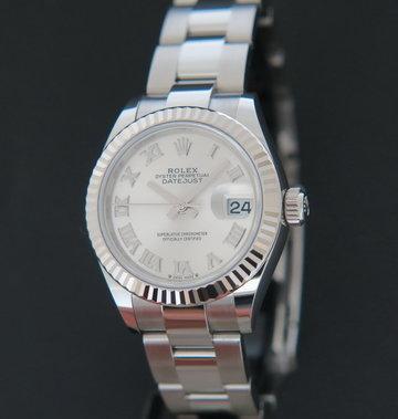 Rolex  Datejust Lady 28mm Silver Roman Dial NEW 279174