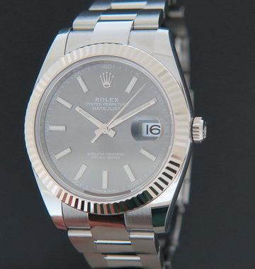 Rolex  Datejust 41 Slate Dial NEW 126334