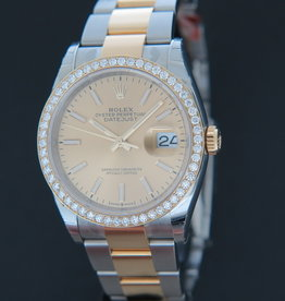 Rolex  Datejust Gold/Steel Champagne Dial NEW 126203 126233
