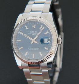 Rolex  Date Blue Dial 115234 NEW