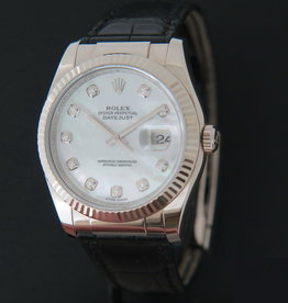 Rolex  Datejust White Gold Diamond Mother Of Pearl Dial  116139
